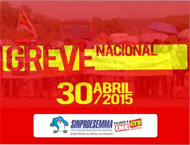 30 DE ABRIL GREVE NACIONAL